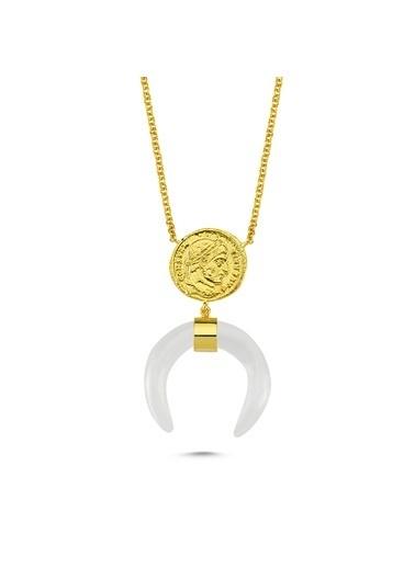 Reian Jewelry Coın Quartz Kolye Altın